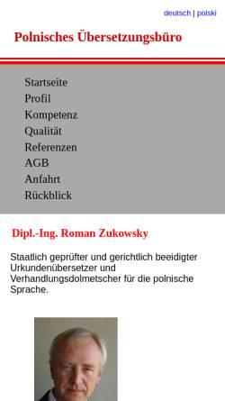 Vorschau der mobilen Webseite www.polnisch.de, Dipl.-Ing. Roman Zukowsky