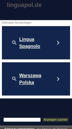 Vorschau der mobilen Webseite www.linguapol.de, Piwko-Übersetzungen