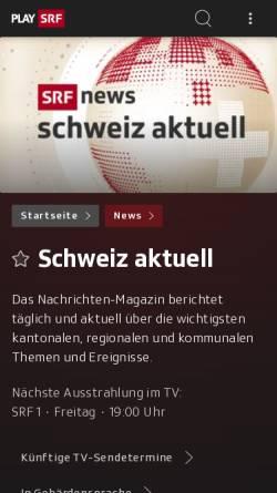 Vorschau der mobilen Webseite www.srf.ch, Schweiz Aktuell