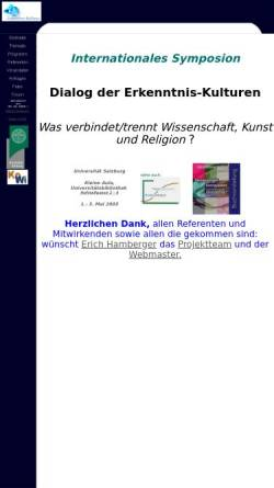 Vorschau der mobilen Webseite www.sbg.ac.at, Dialog der Erkenntniskulturen