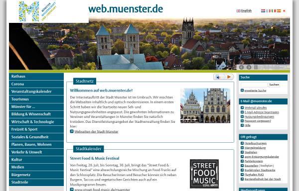 Vorschau von www.muenster.de, Studium und Internet