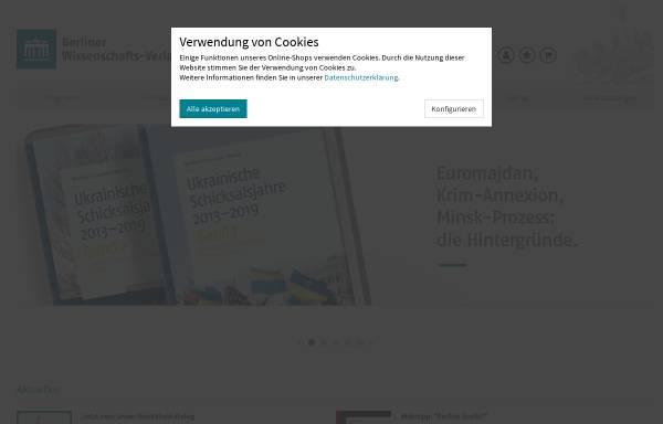 Vorschau von www.berlin-verlag.de, Berlin Verlag Arno Spitz GmbH