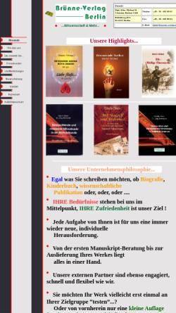 Vorschau der mobilen Webseite www.bruenne-verlag.de, Brünne-Verlag - Wissenschaft & Mehr