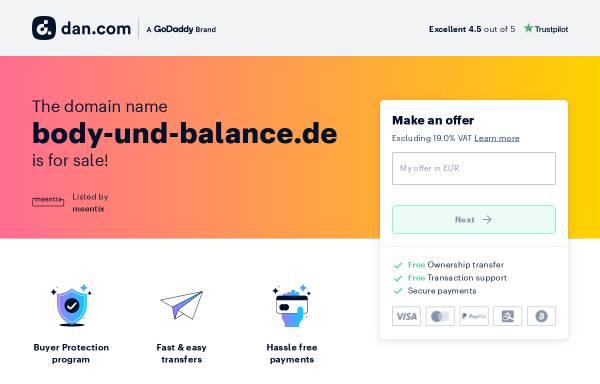 Vorschau von www.body-und-balance.de, Body und Balance
