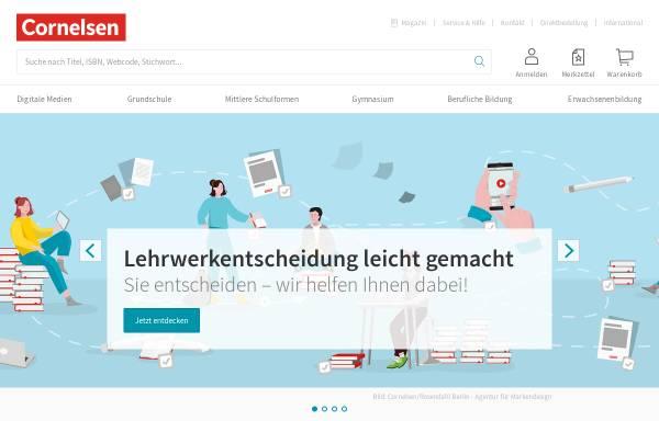 Vorschau von www.cornelsen.de, Cornelsen Verlag