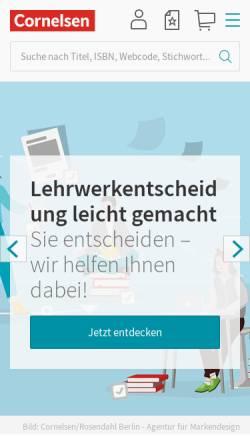 Vorschau der mobilen Webseite www.cornelsen.de, Cornelsen Verlag
