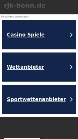 Vorschau der mobilen Webseite www.rjk-bonn.de, Robert Janker Klinik Bonn; Fachklinik für Radiologie