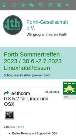 Vorschau der mobilen Webseite www.forth-ev.de, FORTH-Gesellschaft e.V.