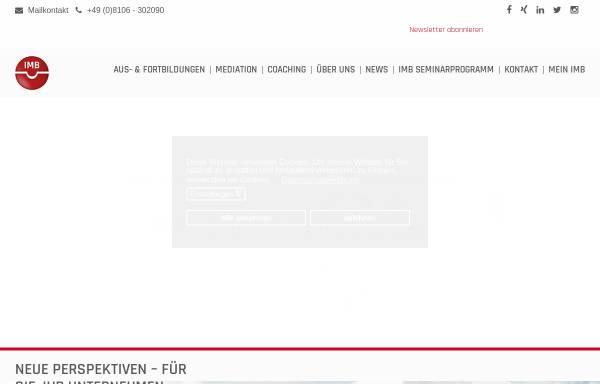 Vorschau von www.imb-institut.de, Institut für Mediation und Beziehungsmanagement