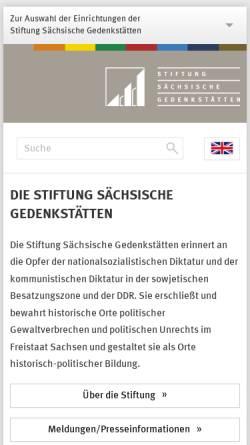 Vorschau der mobilen Webseite www.stsg.de, Stiftung Sächsische Gedenkstätten