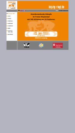 Vorschau der mobilen Webseite www.leipzig-ringt.de, Leipzig ringt - Grand Prix der BRD
