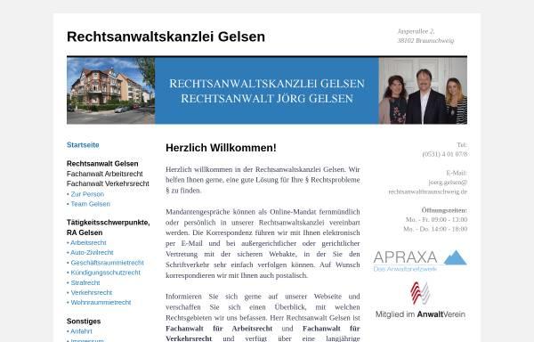 Vorschau von www.rechtsanwalt-gelsen.de, Sozietät Gelsen/Igelbusch