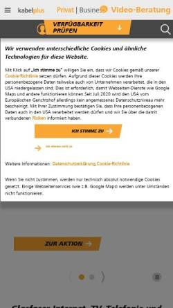 Vorschau der mobilen Webseite www.kabsi.at, kabelsignal AG