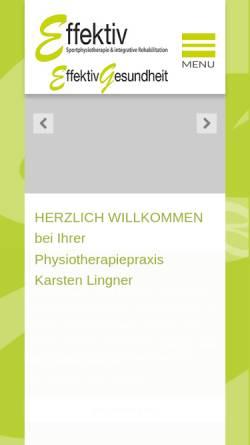 Vorschau der mobilen Webseite physio-lingner.de, Effektiv Karsten Lingner