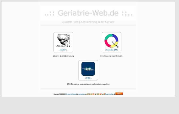 Vorschau von www.geriatrie-web.de, Qualitäts- und Erlössicherung in der Geriatrie