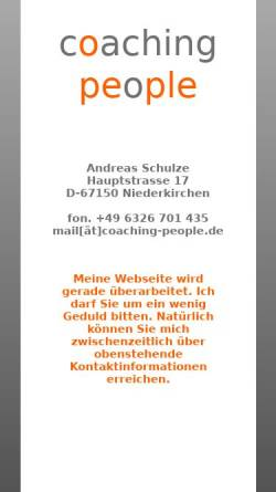 Vorschau der mobilen Webseite www.coaching-people.de, Coaching people - Andreas Schulze