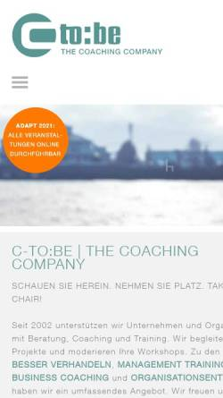 Vorschau der mobilen Webseite www.c-to-be.de, C-to:be - The Coaching Company