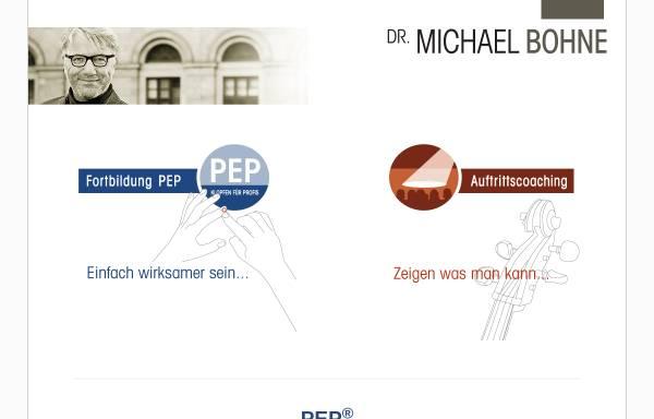 Vorschau von www.dr-michael-bohne.de, Dr. Michael Bohne - Auftritts-Coaching