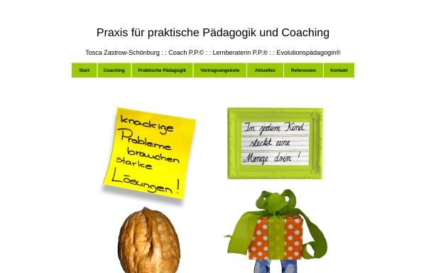 Vorschau von www.kompetenzerweiterungen.de, Praxis für Praktische Pädagogik und Coaching - Tosca Zastrow-Schönburg