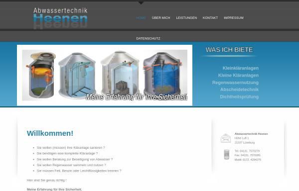 Vorschau von www.heenen.com, Abwassertechnik Heenen, Inh. Christian Heenen