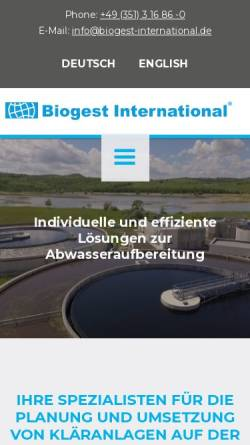 Vorschau der mobilen Webseite www.biogest-international.de, Biogest International GmbH