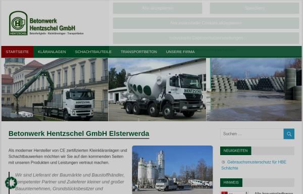 Vorschau von www.hentzschel-beton.de, Hentzschel-Beton, Inh. Hans-Jürgen Hentzschel