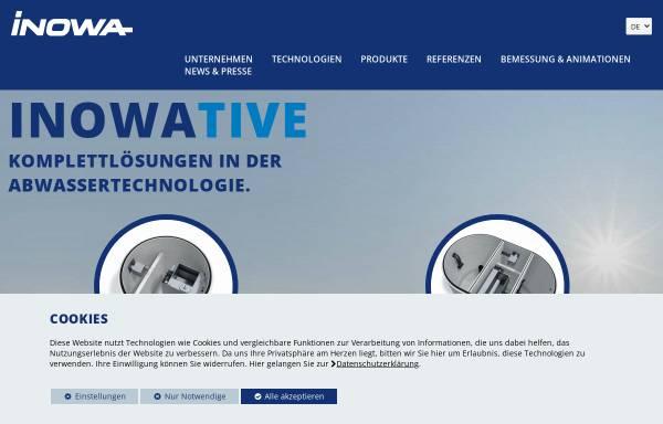 Vorschau von www.inowa.at, Inowa Abwassertechnologie GmbH & Co. KG