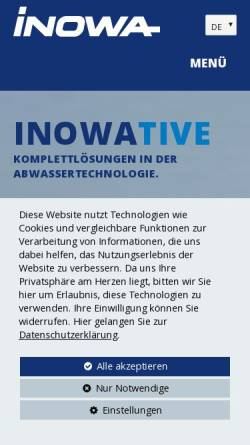 Vorschau der mobilen Webseite www.inowa.at, Inowa Abwassertechnologie GmbH & Co. KG