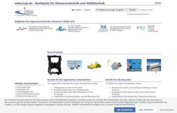 Vorschau von www.ivaa.de, IVAA Abwasserforum