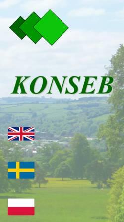 Vorschau der mobilen Webseite www.konseb.com, Konseb AB