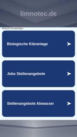 Vorschau der mobilen Webseite www.limnotec.de, LimnoTec Abwasseranlagen GmbH