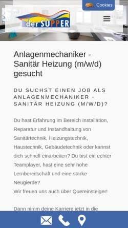 Vorschau der mobilen Webseite www.derrohrwurm.de, Rohrwurm Supper GmbH