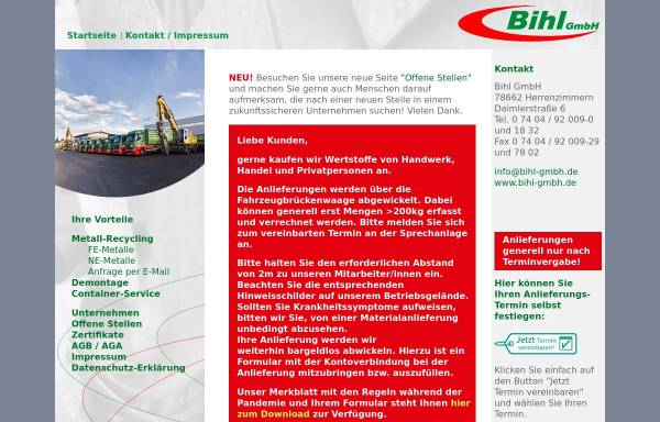 Vorschau von www.bihl-gmbh.de, Bihl GmbH