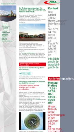 Vorschau der mobilen Webseite www.bihl-gmbh.de, Bihl GmbH