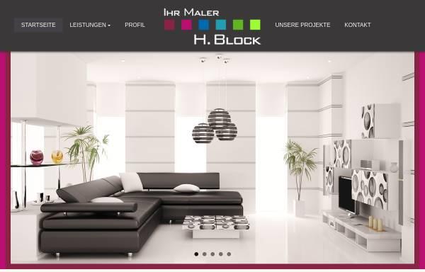 Vorschau von www.malerblock.de, Malereibetrieb Block