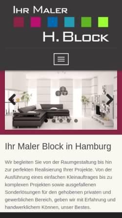 Vorschau der mobilen Webseite www.malerblock.de, Malereibetrieb Block