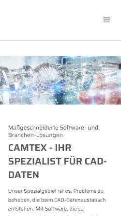 Vorschau der mobilen Webseite www.camtex.de, Camtex GmbH