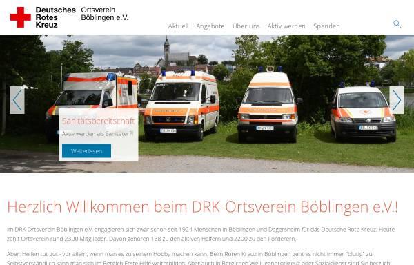 Vorschau von drk-boeblingen.de, DRK-Ortsverein Böblingen