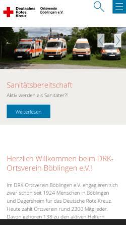 Vorschau der mobilen Webseite drk-boeblingen.de, DRK-Ortsverein Böblingen