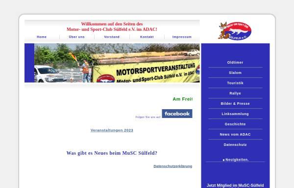 Vorschau von www.muscsuelfeld.de, Motor - und Sport - Club Sülfeld e.V.