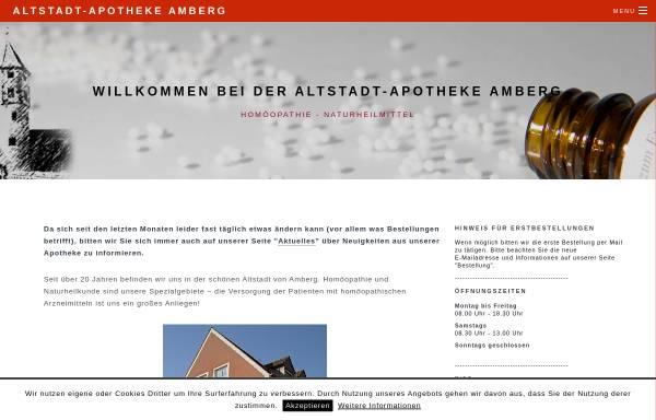 Vorschau von www.altstadtapotheke-amberg.de, Altstadt-Apotheke Amberg