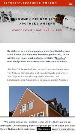 Vorschau der mobilen Webseite www.altstadtapotheke-amberg.de, Altstadt-Apotheke Amberg