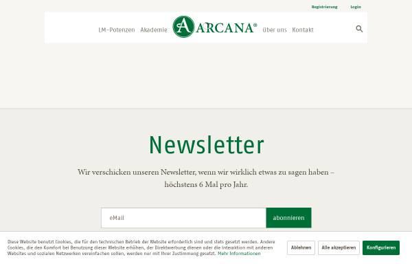 Vorschau von www.arcana.de, ARCANA - Arzneimittel-Herstellung