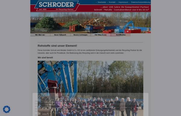 Vorschau von www.schrott-schroeder.de, Emil Schröder, Inh. Hans-Heinrich Lütje