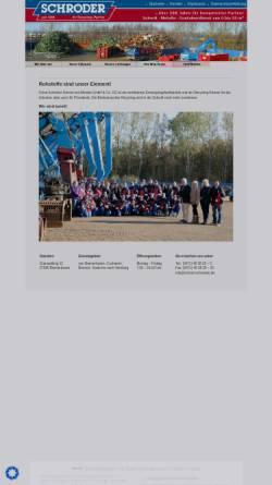 Vorschau der mobilen Webseite www.schrott-schroeder.de, Emil Schröder, Inh. Hans-Heinrich Lütje