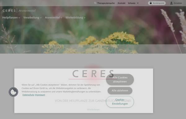 Vorschau von www.ceresheilmittel.ch, Ceres Heilmittel AG