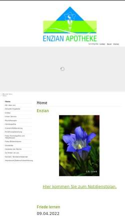 Vorschau der mobilen Webseite www.enzian-apotheke.de, Enzian Apotheke München