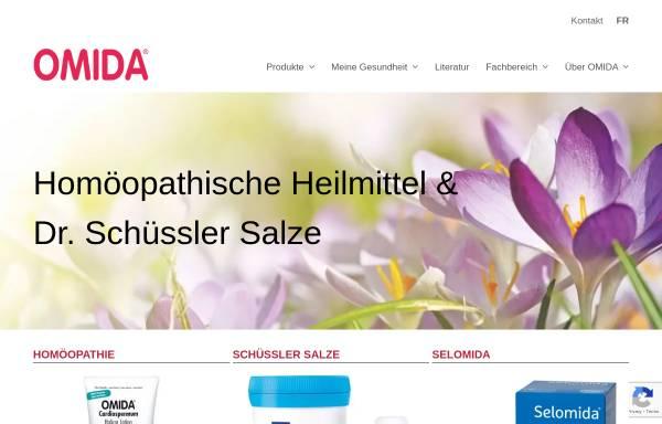 Vorschau von www.omida.ch, Omida Homöopathie AG