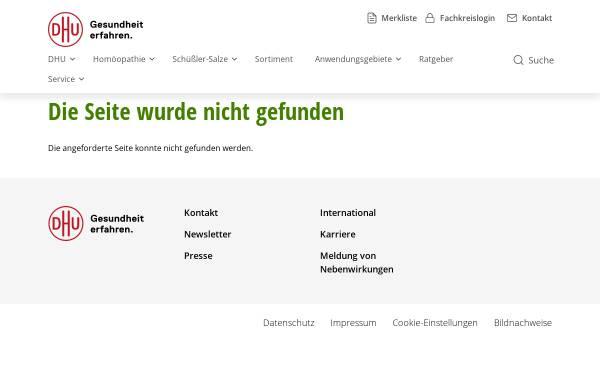 Vorschau von www.dhu.de, Pentarkan Komplex-Homöopathie