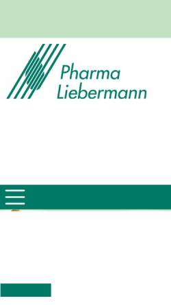 Vorschau der mobilen Webseite www.pharma-liebermann.de, Pharma Liebermann